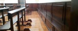 Silleria y panelados pared coro iglesia (3)